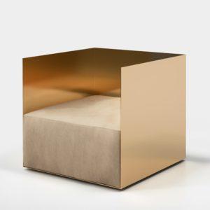 Surfaces réfléchissantes: Crosby Studios chair, Sight Unseen Offsite 2017