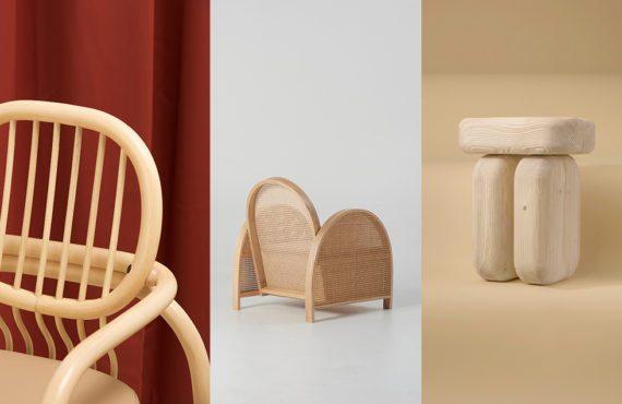 Design, bois, chaises