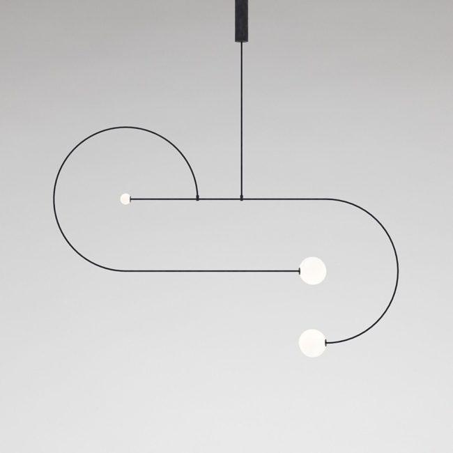 Cinq nouveaux luminaires minimalistes 2017 | Michael Anastassiades, Mobile Chandelier 13