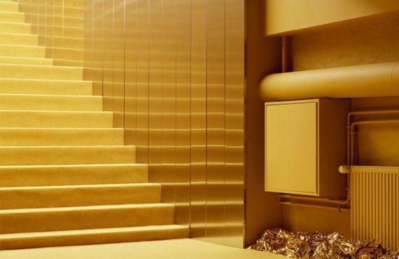 Tendance Intérieure jaune et or, Normann Copenhagen showroom