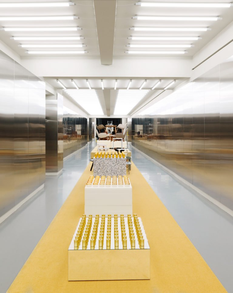 Tendance jaune et or, Normann Copenhagen showroom