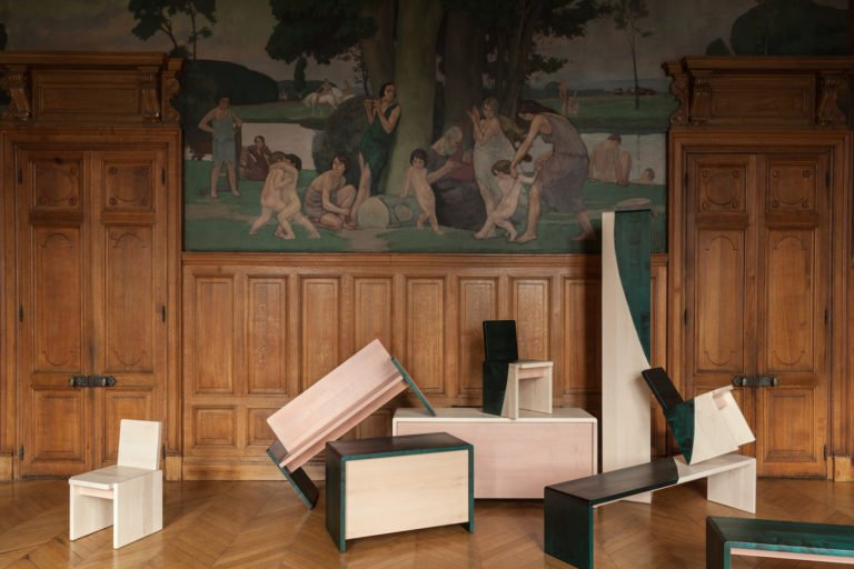 Wild Workshop, furniture for the town hall of Pantin