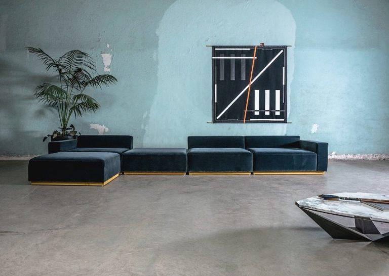Atraform, Oberon Sofa and painting, Andreas Diaz Andersson