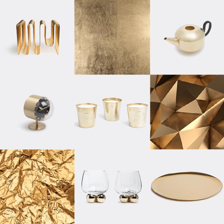 Noël sélection idées cadeaux design WallpaperSTORE - Doré