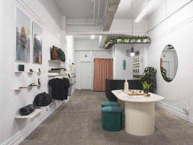 La nouvelle boutique C'est Beau à Montréal met en scène des produits exclusivement fabriqués au Québec, design par obiekt.