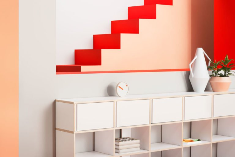 The Art Director and Set Designer Camille Boyer has recently used her skills to help the Polish shelving system Tylko.