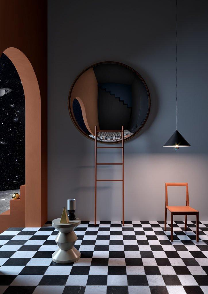 L'agence de stylisme et d'architecture d'intérieur Notoostudio s'inspire des peintres surréalistes du XXeme siècle pour mettre en scène du mobilier.
