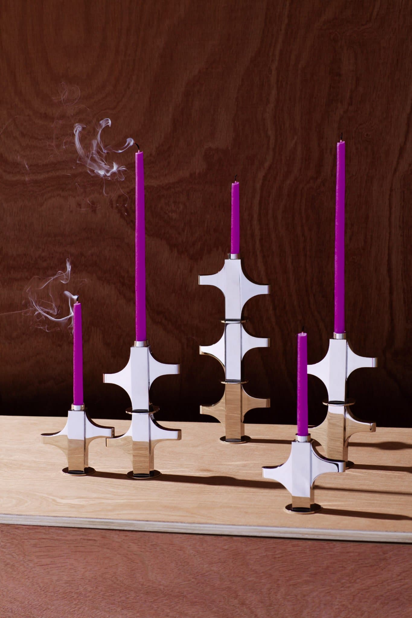 On the occasion of Maison&Objet 2019, French designers HAOS Paris released metal polished candle holders.