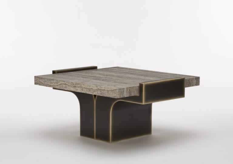 On the occasion of Maison&Objet and Paris Déco Off 2019, designer Stéphane Parmentier designed a travertine coffee table for Pouenat.