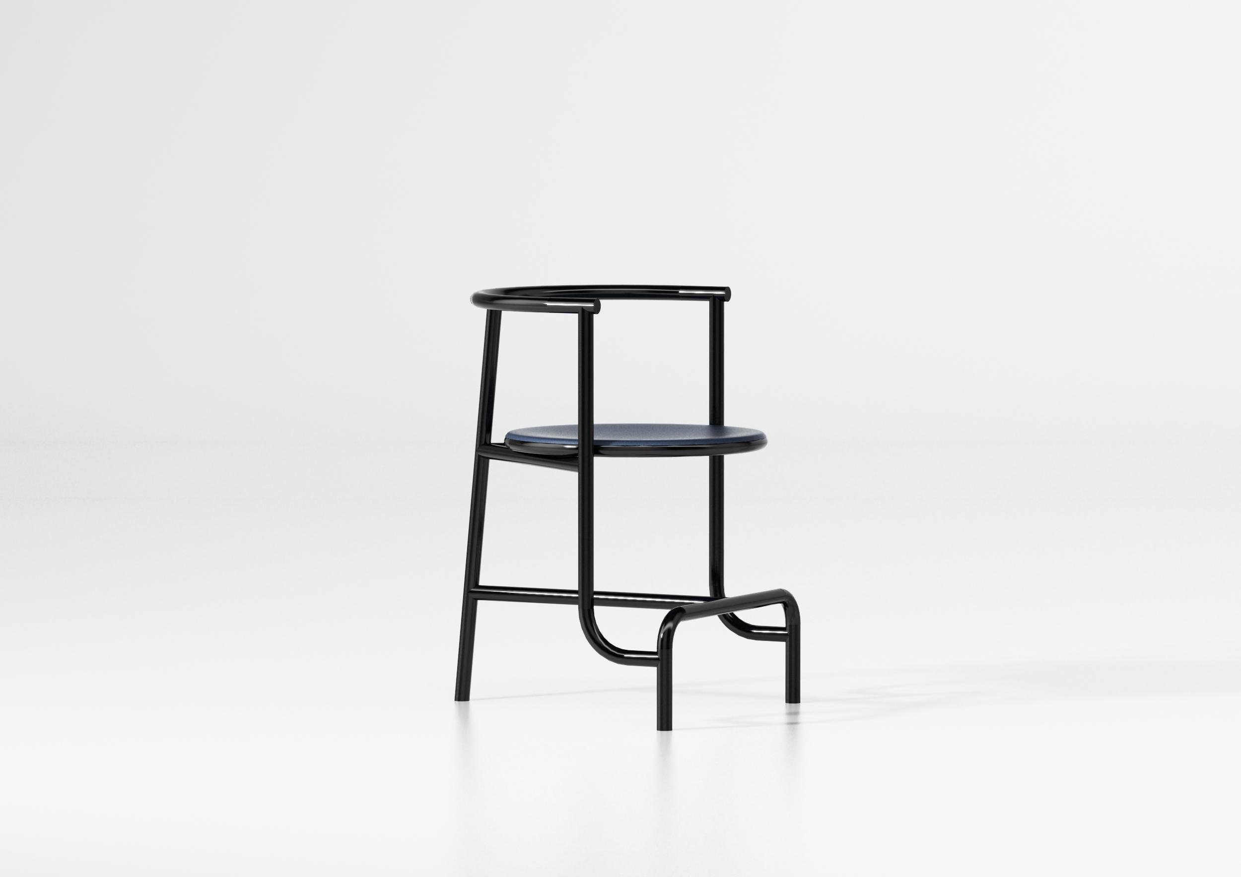 On the occasion of Maison&Objet and Paris Déco Off 2019, designer Fabien Cappello designed a minimal black chair.