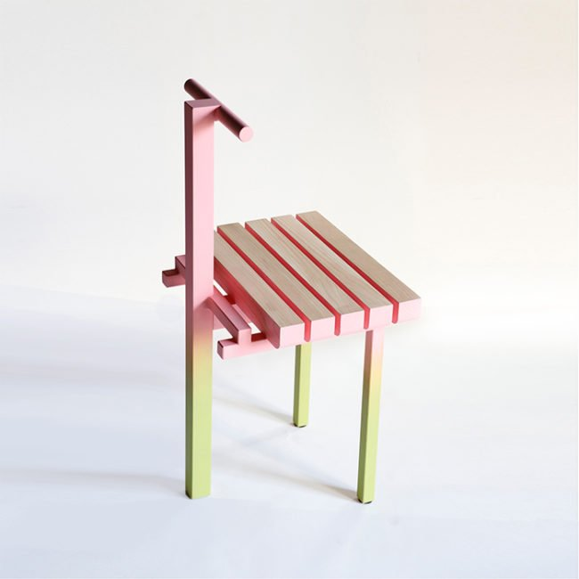 Pink design chair, Collectible Design gallery.