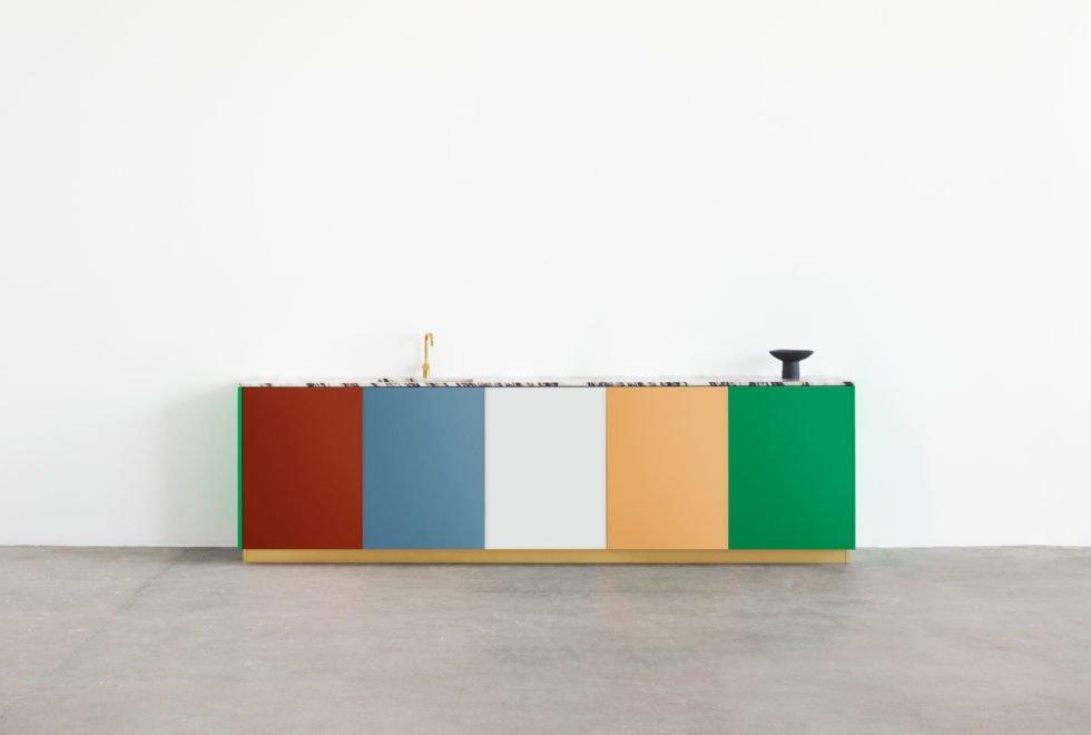 Colorful kitchen cabinets by Müller van Severen for Reform.