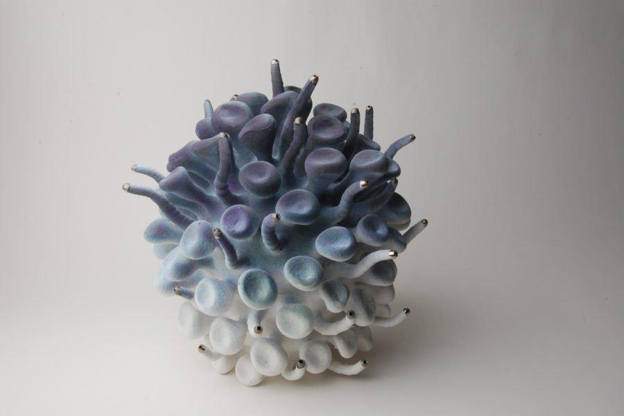 DesignMiami: Basel 2019-Hostler-Burrows-Eva-Zethraeus-Purple-Blue-Platelett-Cluster-huskdesignblog