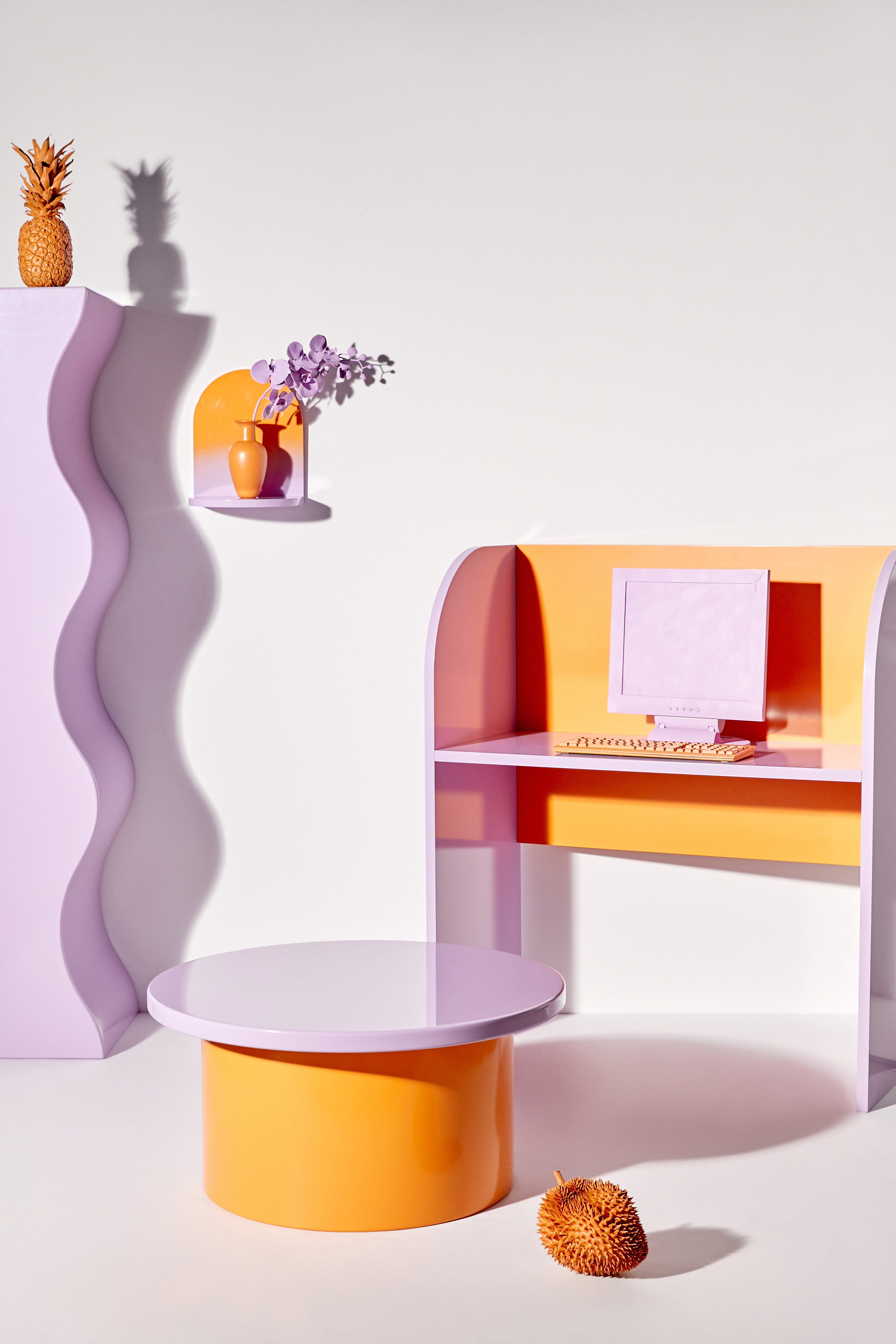 Lacquered and colorful furniture on Urban Outfitters x Clever