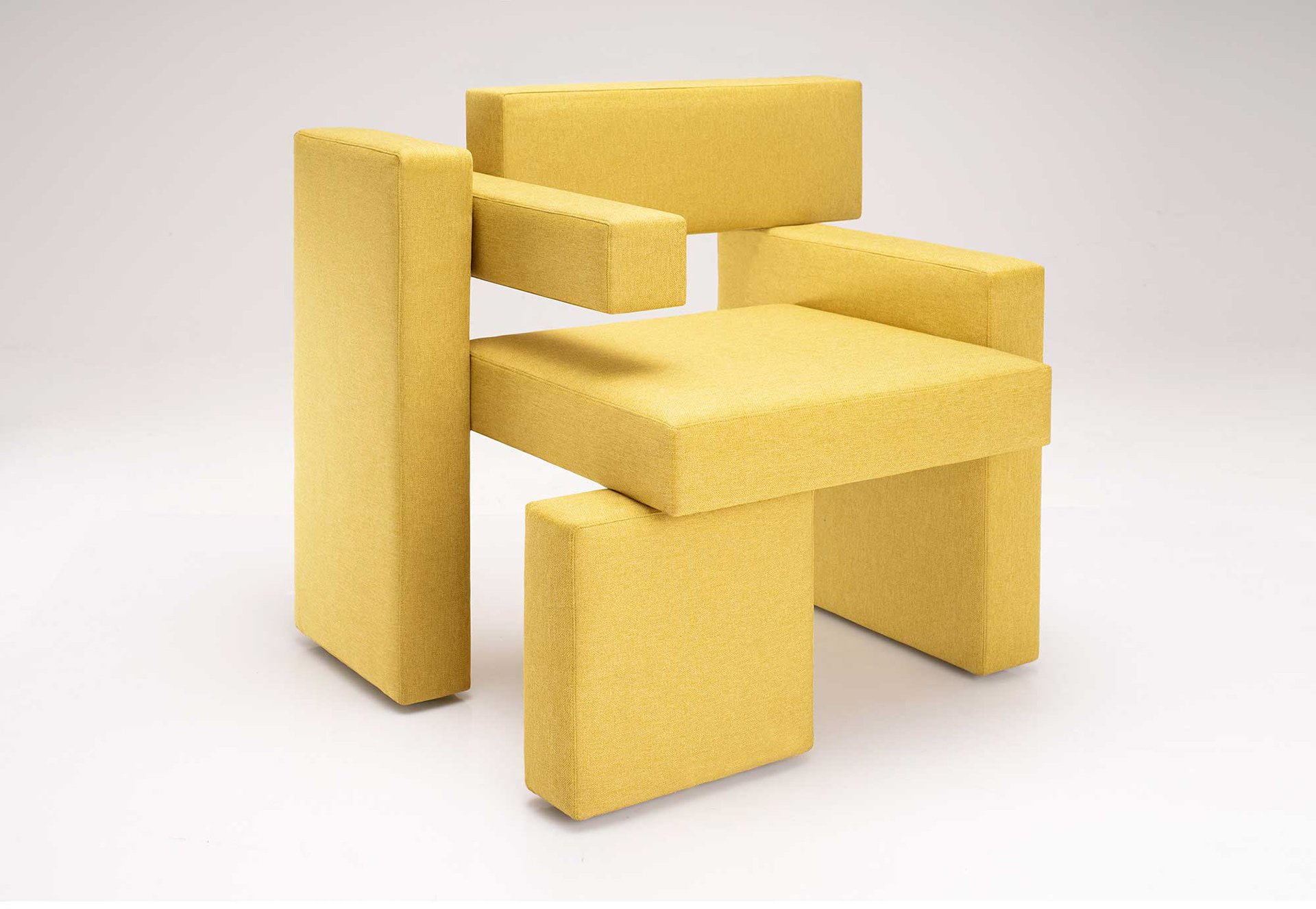 Yellow Brick chair by Dmitriy Sivak