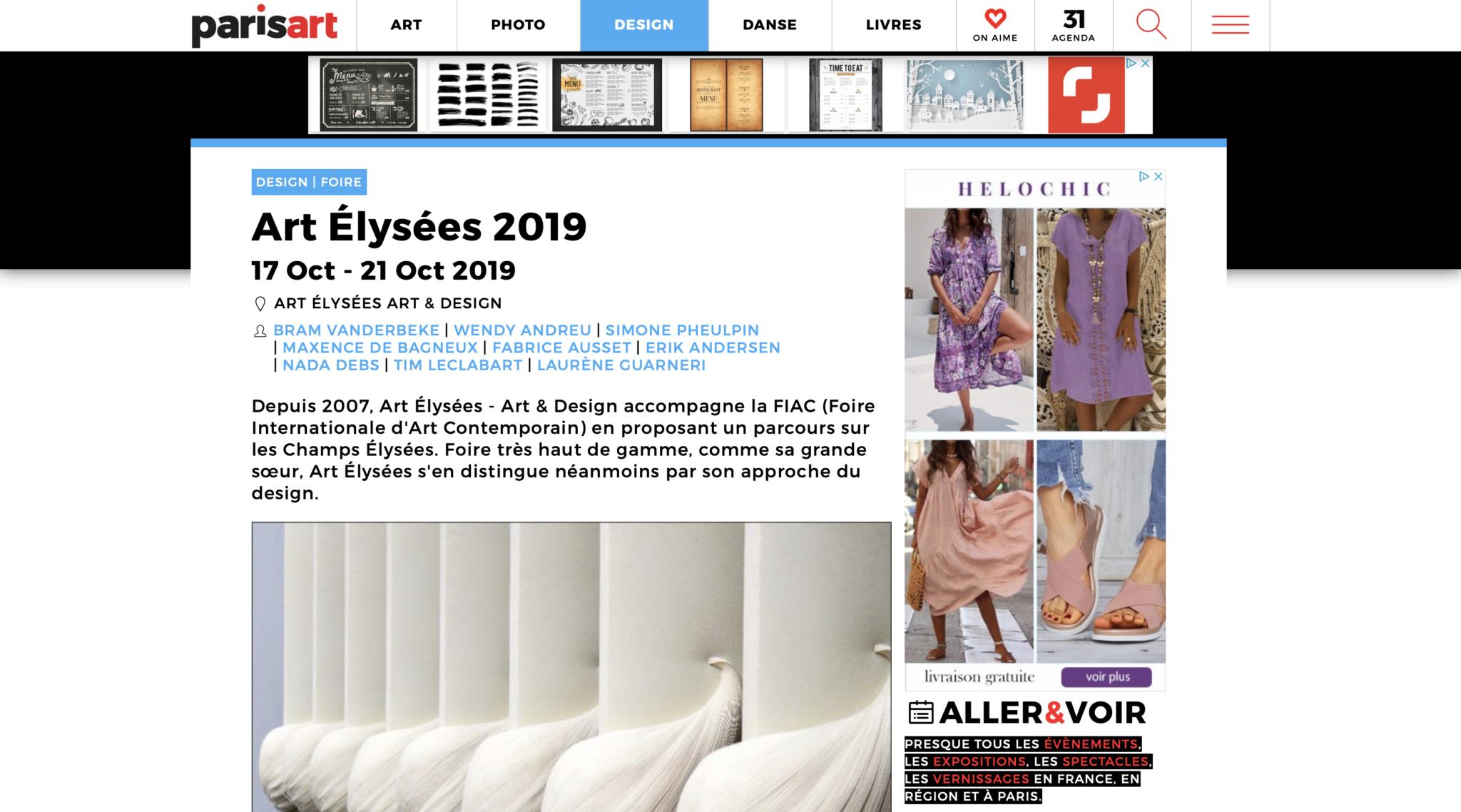 ParisArt, Art Elysées - Art & Design 2019, Huskdesignblog