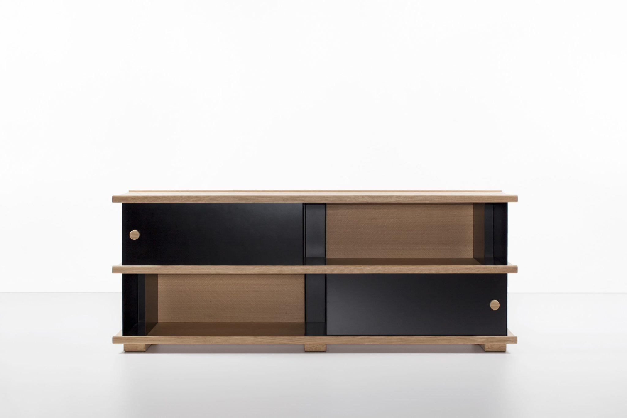 Maison et Objet 2020, Cruso Belgian wooden furniture, shelf designed by Big Game