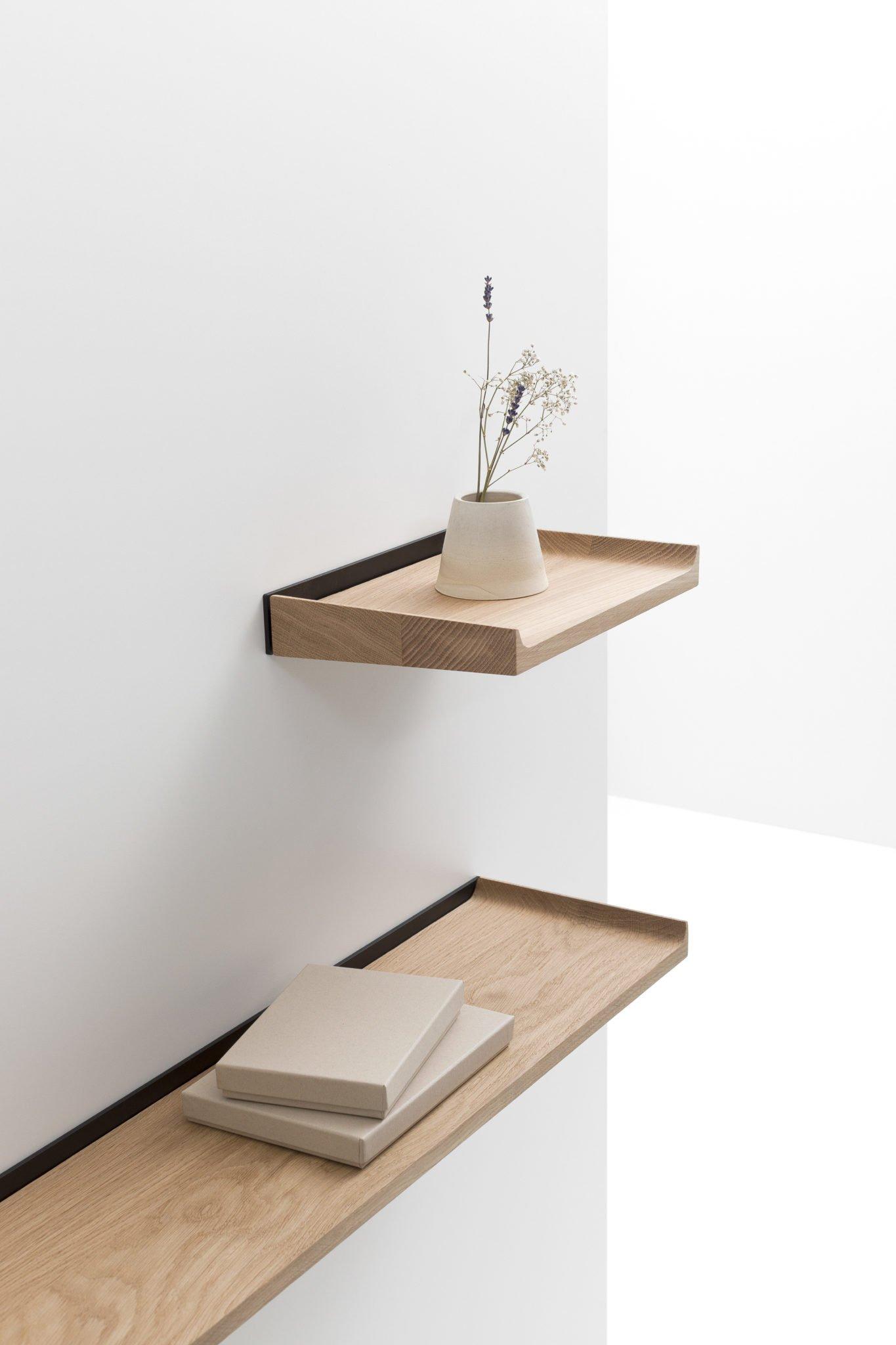 Maison et Objet 2020, Cruso Belgian wooden furniture, shelf designed by Julien Renault