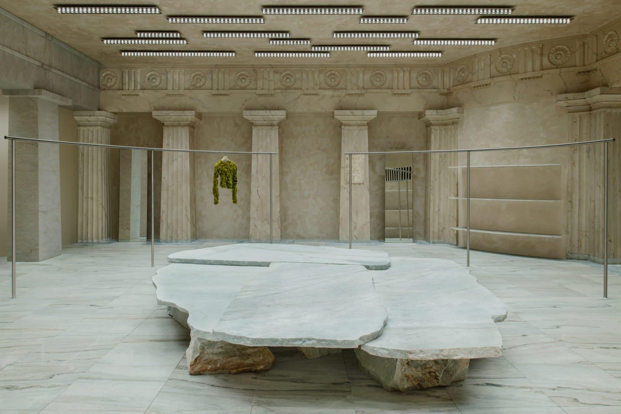 Table en marbre, design Max Lamb